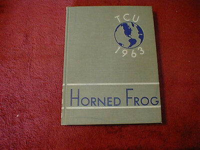 1963 TCU, Texas Christian University Yearbook, Fort Worth, Texas, Horned Frog