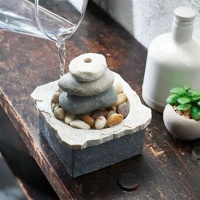 Zaria Avon Wellbeing Indoor Water Feature Table Top With Rocks & Pebbles NEW