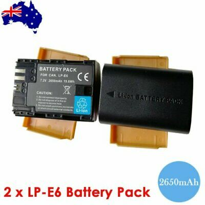 2x LP-E6 LP-E6N battery For Canon EOS 5D Mark II 70D 60D 60Da Mark III 5D 6D 7D