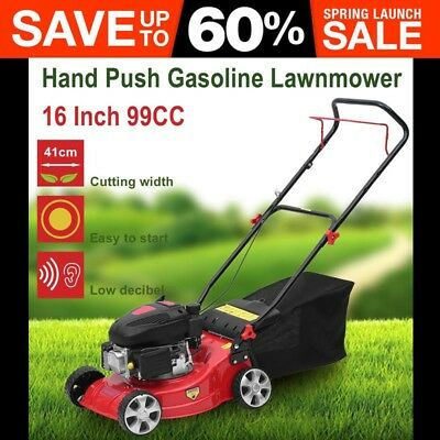 "AU 16"" Lawn Mower 139cc Self Propelled Petrol Lawnmower 4-Stroke Grass Trimmer"