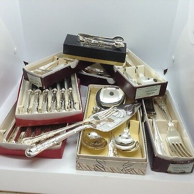 Large Collection Of Silver Plated Kings Pattern Cutlery 46 Piece