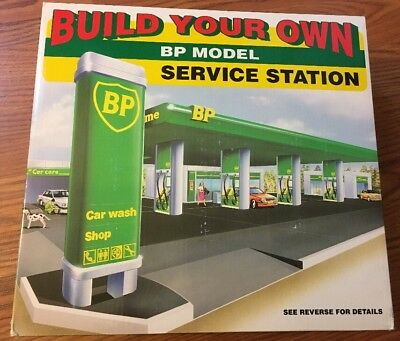 New BUILD YOUR OWN BP MODEL SERVICE STATION  SNAP TOGETHER
