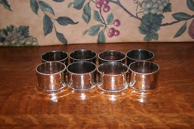 Vintage Silverplated Napkin Rings-Set Of 8