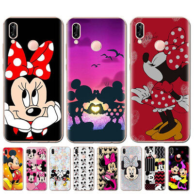 Minnie Mickey Soft TPU Cartoon Cover Case For HUAWEI P8 P9 P10 Lite 2017 P20 Pro
