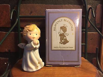 Heavenly Blessings Nativity Avon Vintage 1986 Angel IOB