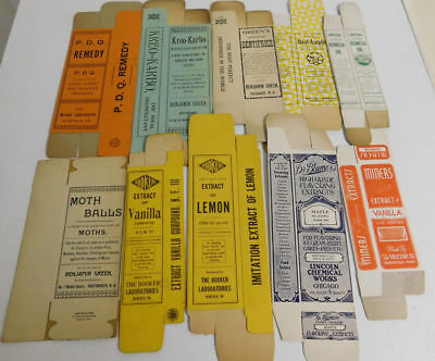 10 Different Vintage Cardboard Advertising Boxes