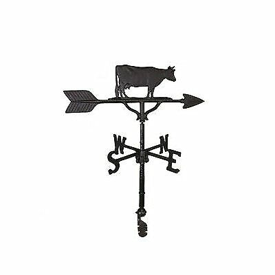 NEW Montague Metal Products 32-Inch Weathervane with Satin Black Cow Ornament