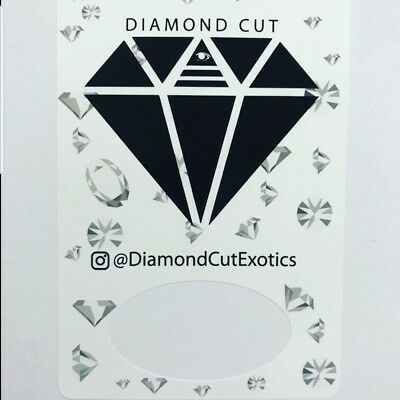 1x DIAMOND CUT EXOTICS MYLAR BAG LABEL CALI TIN