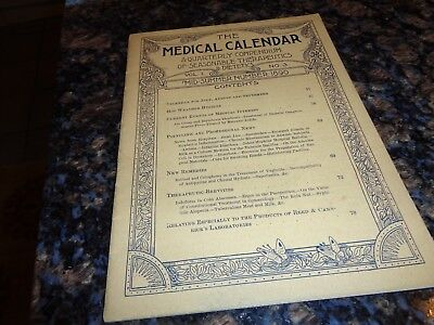 Antique Book/the Medical Calendar/midsummer 1890/therapeutics/news/etc