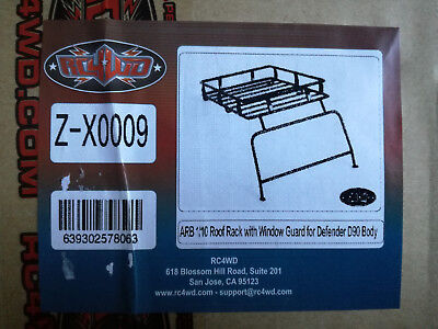 RC4WD ARB 1/10 Roof Rack with Window Guard for Defender D90 Body  Art.Nr: X0009
