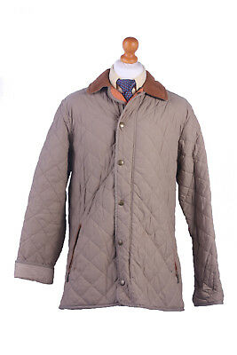 Barbour Quilted Jacket Chelsea Sportsquilt Beige Chest 50'' BR379