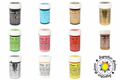 Sugarflair | Edible Matt Paints Cake Icing - 20g | All Shades