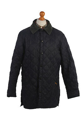 Barbour Quilted Jacket Classic Liddesdale Navy Chest 46'' BR434