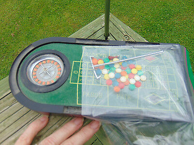 Metal Roulette Wheel Game Set Classic Gaming Surface Table Top Desk Casino