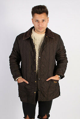 Vintage Barbour Liddensdale Quilt Jacket Sports Country UK Chest:46 Brown BR668