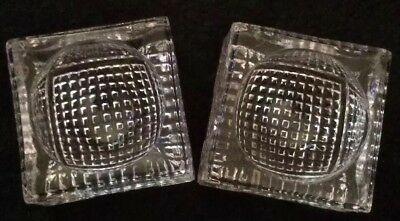 2 Vintage Glass Salt Cellars