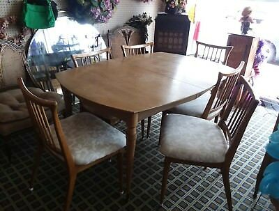 Vintage Mid Century Modern Berngardt Walnut  Dining Room Set 11 pcs PICK UP ONLY