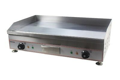 Commercial Kitchen Gas Flat Plate Table Top Griddle Heavy Duty 40cm Burger Steak