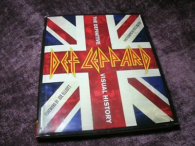 Def Leppard The Definitive Visual History 2011 Hardcover Book Photos Free Ship