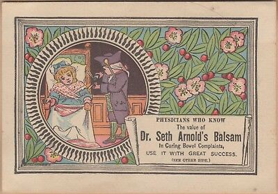 Victorian Trade Card-Dr Seth Arnold's Balsam-Leominster, MA-Woonsocket, RI