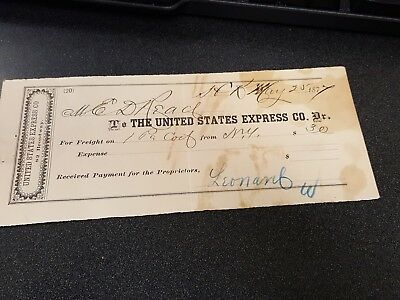 United States Express Co. Receipt 1877