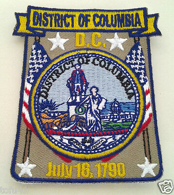 *** DISTRICT OF COLUMBIA MAP *** Biker Patch PM6759 EE