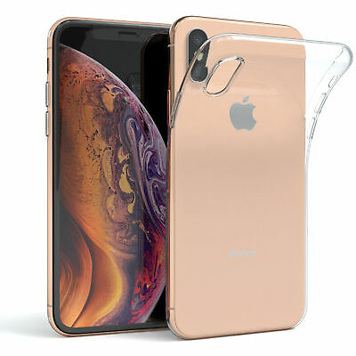 Apple iPhone XS MAX Hülle Silikon Case Cover Handy Tasche Slim Transparent