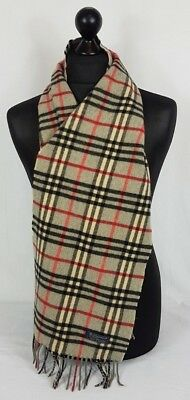 Burberry Scarf 100% Lambswool Man And Women Made In England #a266