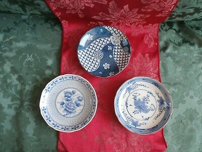 3 Japanese Collectors Display Bowl or dishes Anglex 160 mm across