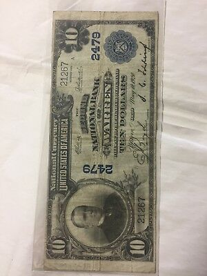 Series of 1902 $10 Second National Bank of Warren Ohio Ch #2479 Great Signatures