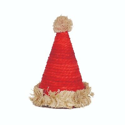Rosewood Christmas Naturals Sisal Santa Hat Small Animal Festive Chew Toy