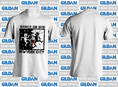 Vintage 1990's T-shirt Keith Haring Dance Or Die NYC New York City Reprint S-3XL