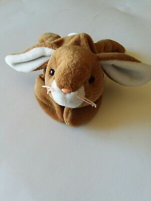 Ears The Bunny Rabbit Beanie Baby Brown Floppy Vintage Ty Bean Bag Plush