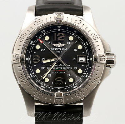 quality design ed45e a04b2 BREITLING SUPEROCEAN STEELFISH X-Plus A17390 Black - Rubber Strap 44mm