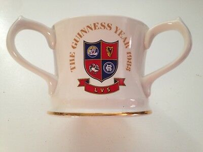 Rare Guinness Three Handled Cup - The Guinness Year 1983