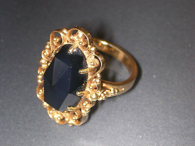 Antiker Ring - Massive Echt Gold 585er - Granat - Handarbeit