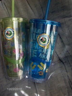 Lot Of 2 ~ Cool Gear ~ Margaritaville Double Wall Insulated 24 Oz Tumblers ~ NWT