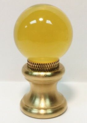 Lamp Finial-Glass Orb Lamp Finial-Lite Amber