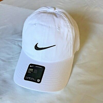 423554ddac28d NEW Nike Heritage 86 Golf Hat White w black stitching One Size adjustable