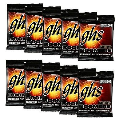 GHS Boomers GBXL-10 Set Extra Light 009-042 Electric Guitar Strings (10-Pack)