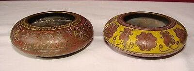 2 Small Indian Brass Bowls
