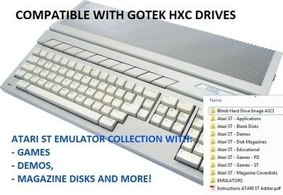 Atari ST Emulator Collection with Games, Demos & More for Windows PC & Gotek HXC