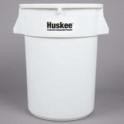 44 Gallon Heavy Duty Plastic White Commerical Restaurant Kitchen Trash Can