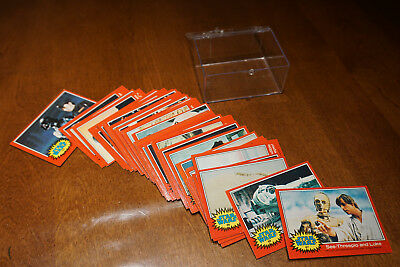 Star Wars collector cards - 1977 red 65 card set lot - excellent condition