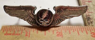"""Vintage Grateful Dead pin """"Steal Your Face"""" wings old rock music collectible"""