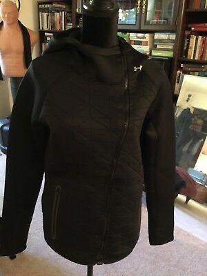 Under Armour Running Hoodie Jacket Womens Water Resistant, Size Large