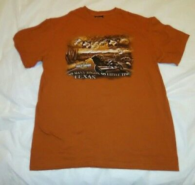 Medium T Shirt Harley Davidson Cowboys Alamo City San Antonio Tx