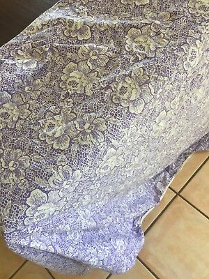 Purple And White vintage Single Sized Fitted sheet Used, Still In Good Condition