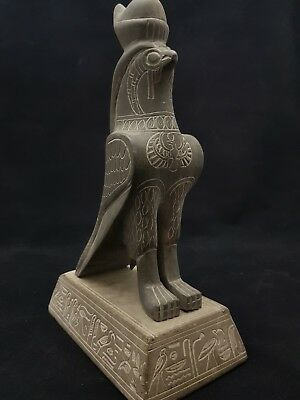 Ancient Egyptian ANTIQUITIES STATUE Of GOD HORUS EGYPT ANTIQUE Bazalt STONE BC