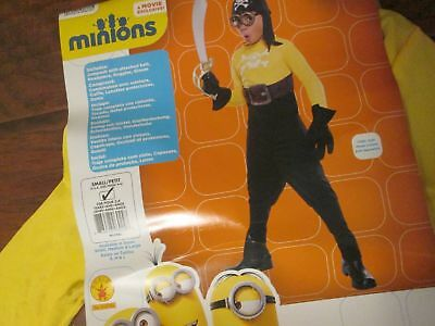 Boys Halloween MINIONS PIRATE Child Costume Small 4-6 (for 3-4 years old) RT$35